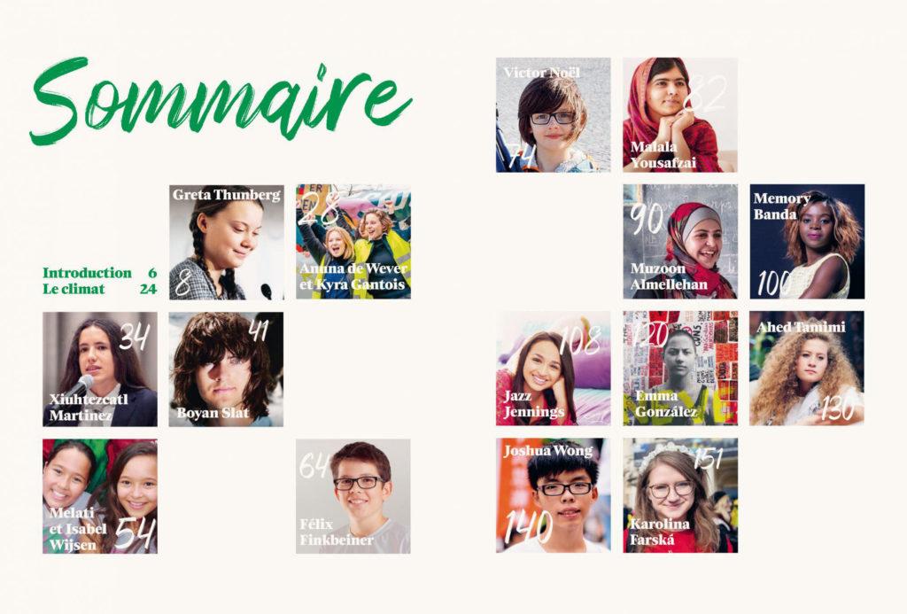 Jeunes qui changent le monde Index