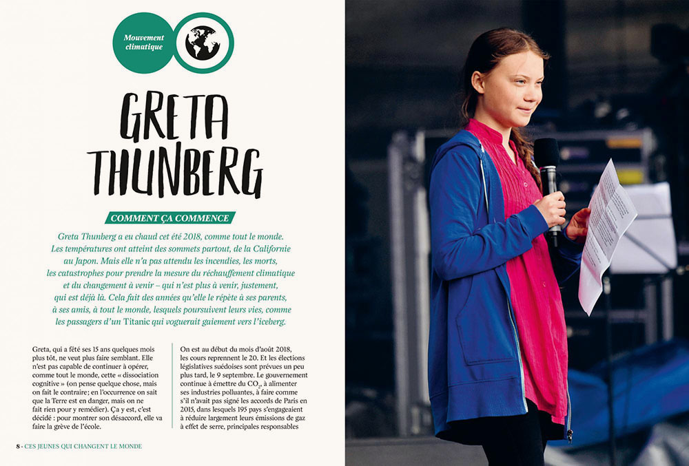 Jeunes qui changent le monde Greta Thunberg